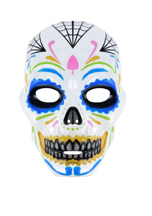 Adult Mexican Day of the Dead Mask for Halloween Skeleton Skull Fancy Dress